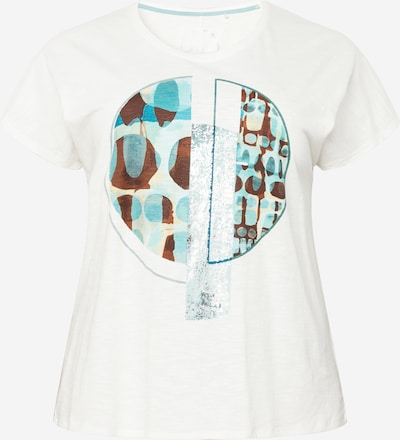 Tricou SAMOON pe turcoaz / azuriu / maro / alb, Vizualizare produs