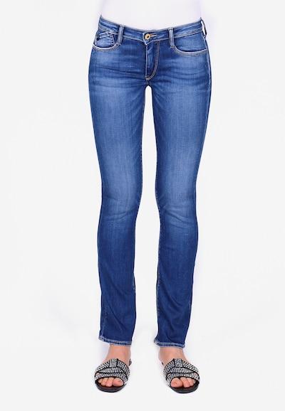 Le Temps Des Cerises Jeanshose POWERB im Straight Leg-Schnitt in blau, Modelansicht