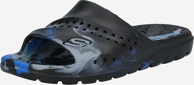 SKECHERS Отворени обувки в кралско синьо / сиво / черно, Преглед на продукта