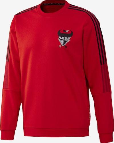 ADIDAS PERFORMANCE Sweatshirt in grau / rot / schwarz, Produktansicht