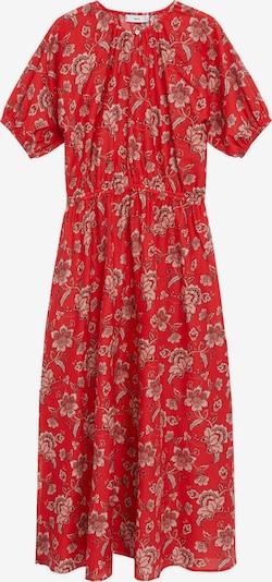 MANGO Kleid 'CALABASA' in hellbraun / mischfarben / rot / weiß, Produktansicht