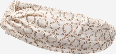Calvin Klein Лента за чело в кремаво / кафяво / бяло, Преглед на продукта