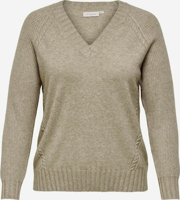 ONLY Carmakoma Pullover in Beige