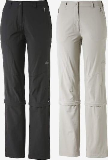 MCKINLEY Outdoorhose in hellgrau / schwarz, Produktansicht