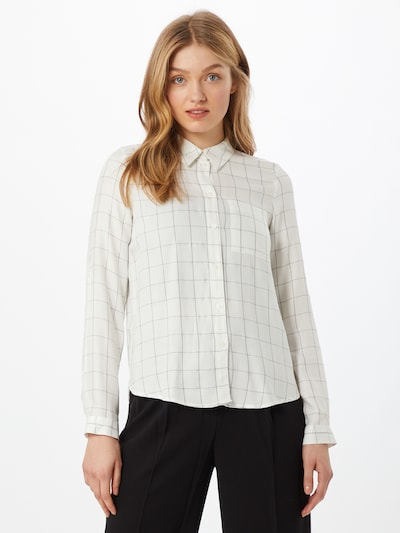 ONLY Bluse 'ANNALIE' in silbergrau / offwhite, Modelansicht