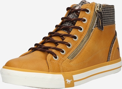 Sneaker înalt MUSTANG pe brocart / galben miere / alb, Vizualizare produs