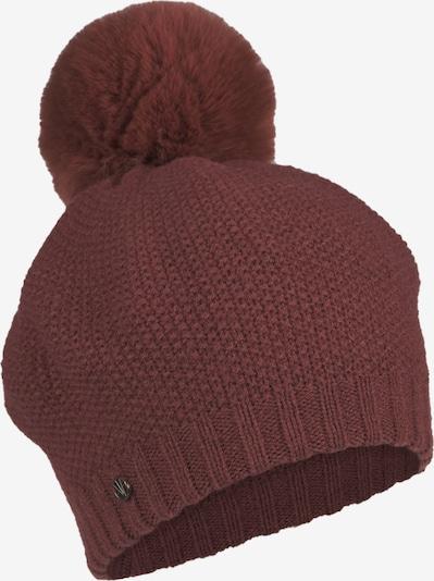 LOEVENICH Bonnet ' Cozy Winter ' en bordeaux, Vue avec produit