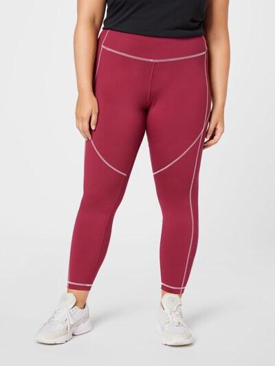 Reebok Sport Športové nohavice - malinová / biela, Model/-ka
