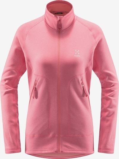 Haglöfs Functionele fleece jas 'Heron' in de kleur Pink / Wit, Productweergave