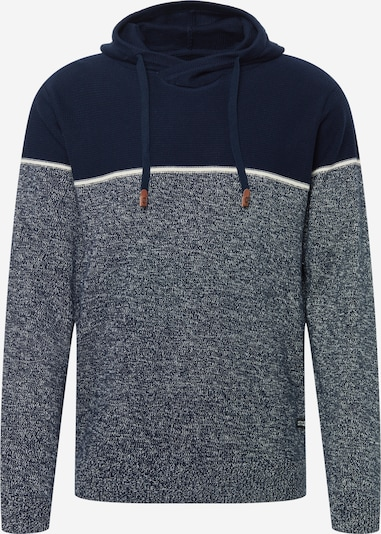 INDICODE JEANS Sweater 'Brager' in Navy / mottled blue / White, Item view