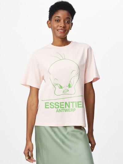 Essentiel Antwerp T-shirt 'Zinker' en beige / vert clair: Vue de face