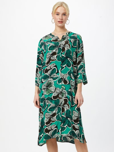Masai Košulja haljina 'Nimes' u tamno smeđa / tamno zelena / crna / bijela, Prikaz modela