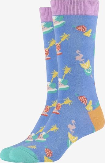 FUN Socks Crew Socks 'Summer Flamingo' in mischfarben, Produktansicht