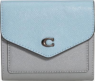 COACH Porte-monnaies en bleu clair / gris, Vue avec produit