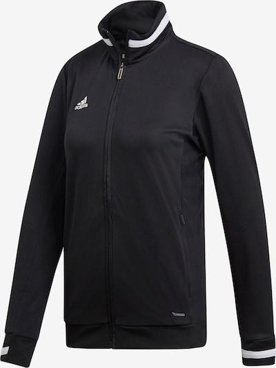 ADIDAS PERFORMANCE Trainingsjacke 'Team 19' in schwarz / weiß: Frontalansicht