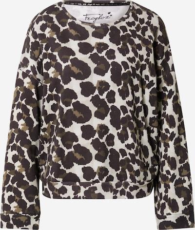 Frogbox Sweatshirt in beige / oliv / pastellgrün / schwarz, Produktansicht