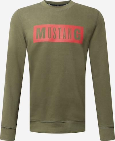 MUSTANG Sportisks džemperis 'Ben', krāsa - zaļš / sarkans, Preces skats