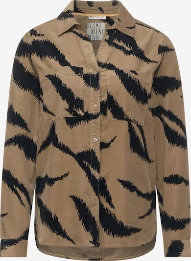 STREET ONE Bluse in brokat / schwarz, Produktansicht