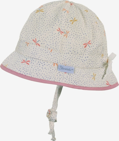 STERNTALER Hut in taubenblau / goldgelb / rosa / pastellrot / weiß, Produktansicht