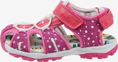 Pio Geschlossene Trekkingsandale mit Klettverschluss in pink, Produktansicht