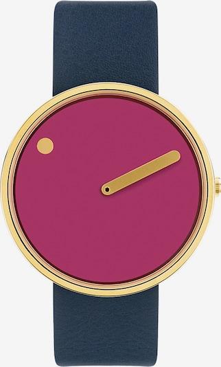Picto Uhr in navy / gold / dunkellila, Produktansicht