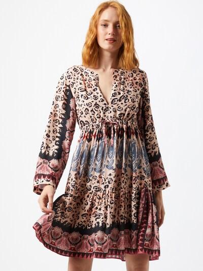 REPLAY Kleid in beige / mischfarben, Modelansicht