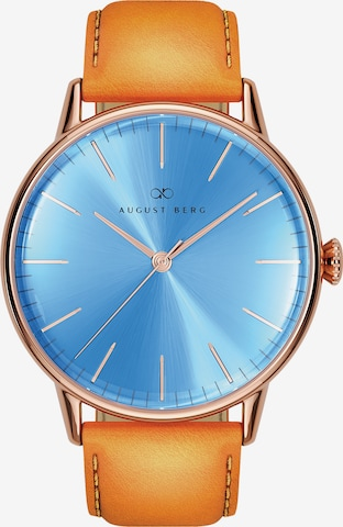 August Berg Analog Watch 'Serenity Sky Blue Leather 40mm' in Blue