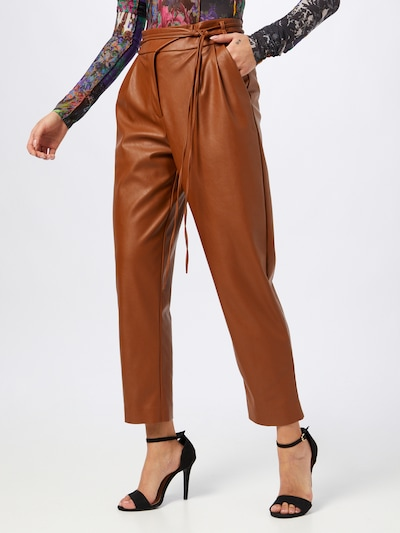 PINKO Pantalón plisado 'RAPITO' en marrón, Vista del modelo