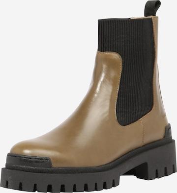 Chelsea Boots ANGULUS en vert