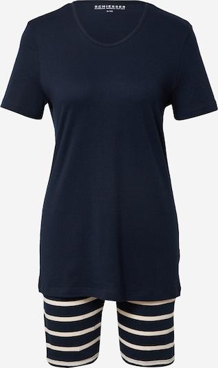 SCHIESSER Kort pyjamas 'Anzug kurz, Bermuda' i nattblå, Produktvy