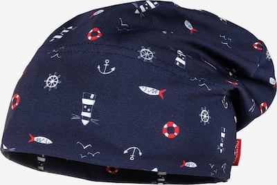 MAXIMO Mütze in dunkelblau / rot / weiß, Produktansicht
