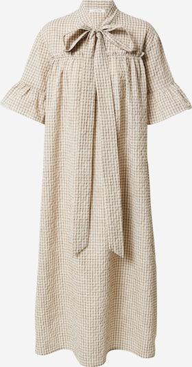 NUÉ NOTES Kleid in beige / weiß, Produktansicht