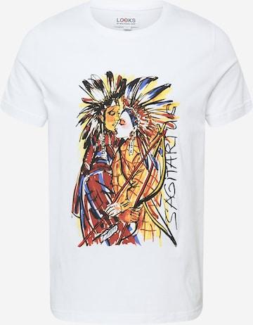 LOOKS by Wolfgang Joop Shirt 'Sagittarius' in Weiß
