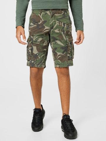 American Eagle Klapptaskutega püksid 'DENSE', värv roheline