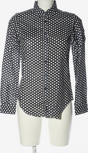 SAND COPENHAGEN Langarm-Bluse in XS in blau / schwarz / weiß, Produktansicht