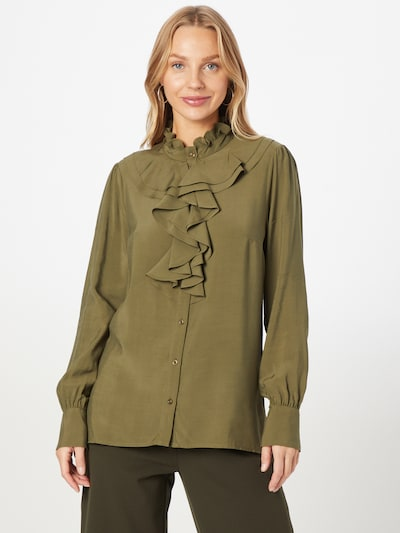 MORE & MORE Blouse in Green / Khaki, View model