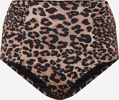 Swim by Zizzi Долнище на бански тип бикини 'STANIA' в бежово / светлобежово / черно, Преглед на продукта