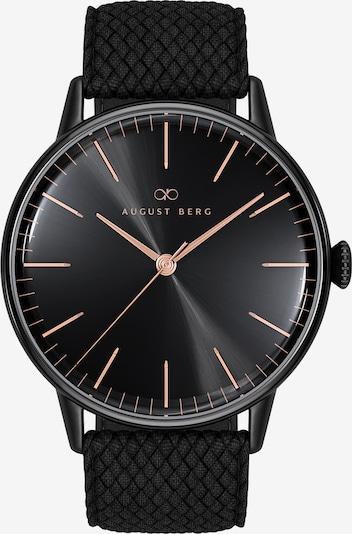 August Berg Uhr 'Serenity Noir Black Black Perlon 40mm' in schwarz, Produktansicht