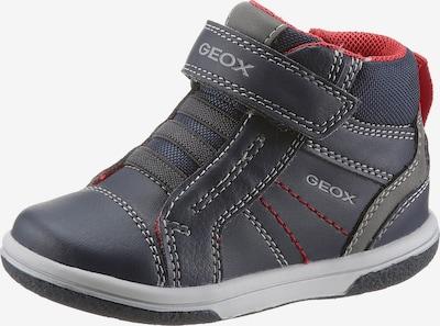 GEOX Kids Lauflernschuh in blau / grau / rot, Produktansicht