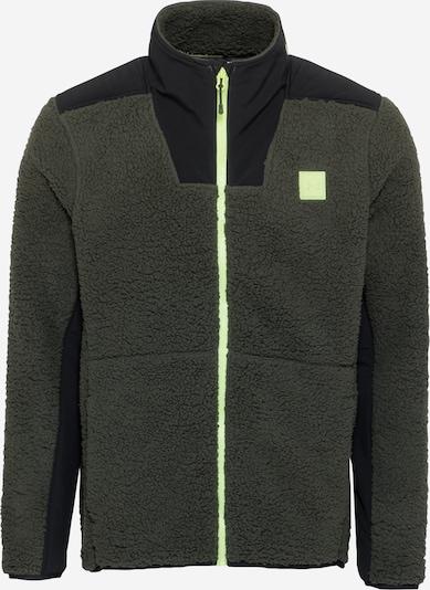 UNDER ARMOUR Sportsweatjacke 'Legacy Sherpa' in neongrün / dunkelgrün / schwarz, Produktansicht