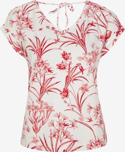 COMMA T-Shirt in rot / weiß, Produktansicht