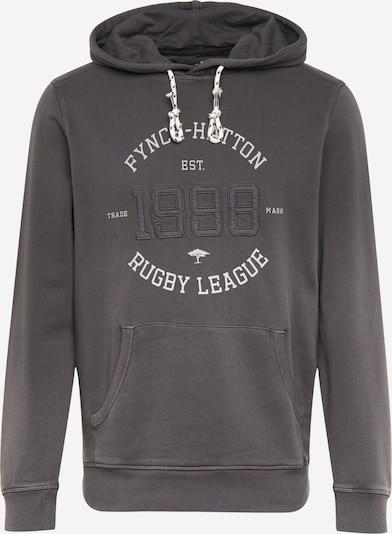 FYNCH-HATTON Sweatshirt in dunkelgrau / weiß, Produktansicht