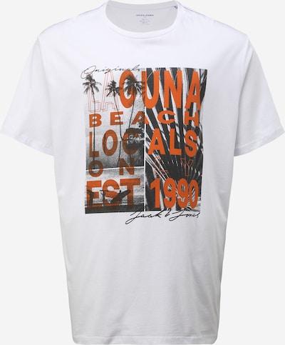 Jack & Jones Plus Majica u svijetlocrvena / crna / bijela, Pregled proizvoda