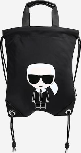 Karl Lagerfeld Rucksack in schwarz / weiß, Produktansicht