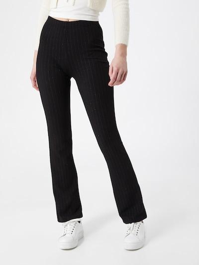 JDY Pantalon 'SHINE' en noir / argent, Vue avec modèle