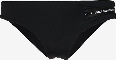Karl Lagerfeld Bikinihose ' Sporty ' in schwarz / weiß, Produktansicht
