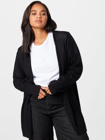 KAFFE CURVE Knit Cardigan 'Henry' in Black, View model