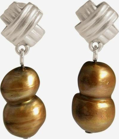Gemshine Ohrringe in braun / silber, Produktansicht