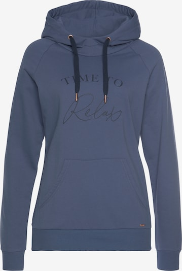LASCANA Kapuzensweatshirt in blau, Produktansicht