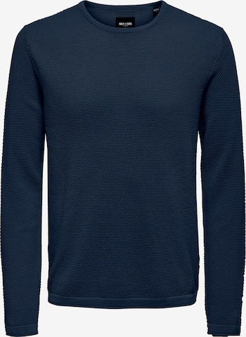 Only & Sons Sweater 'Panter' in Blue